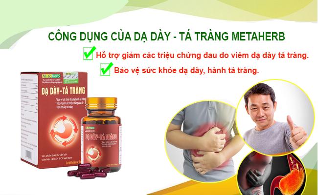 Sản phẩm Dạ dày - Tá tràng Metaherb hỗ trợ đắc lực cho người bệnh