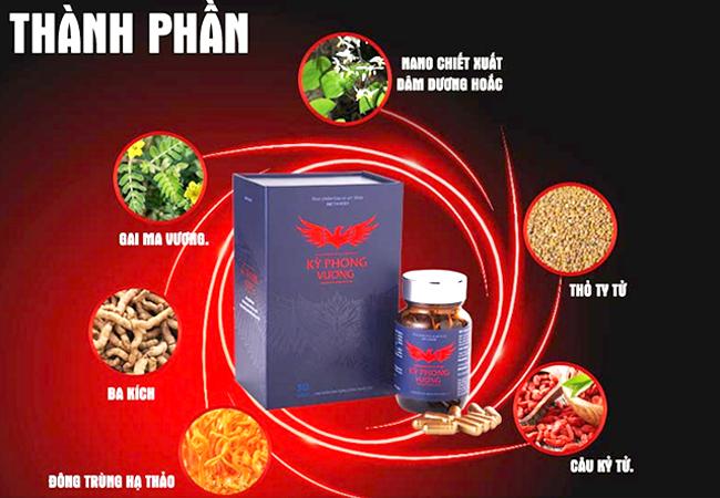 Kỳ Phong Vương được bào chế từ thảo dược thiên nhiên