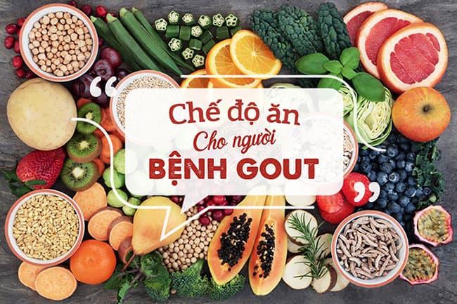 Chế độ ăn uống - Sinh hoạt cho người bị gout