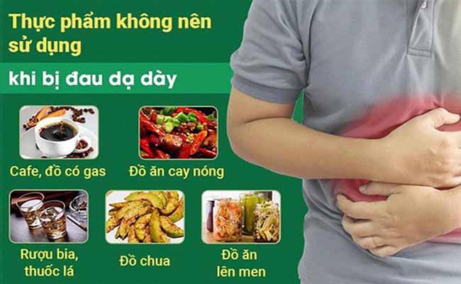 Người bệnh đau dạ dày nên chú ý kiêng những thực phẩm gây hại