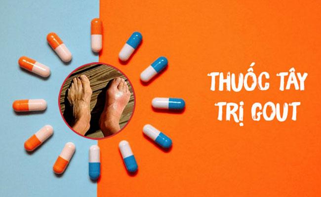 Thuốc tây hỗ trợ giảm sưng viêm do Gout