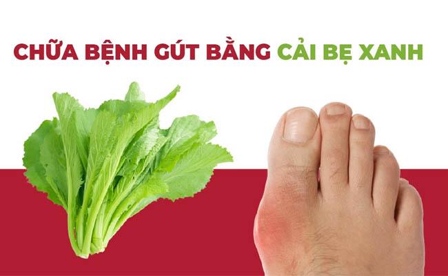 Cần lưu ý chữa bệnh gout bằng cải bẹ xanh đúng cách
