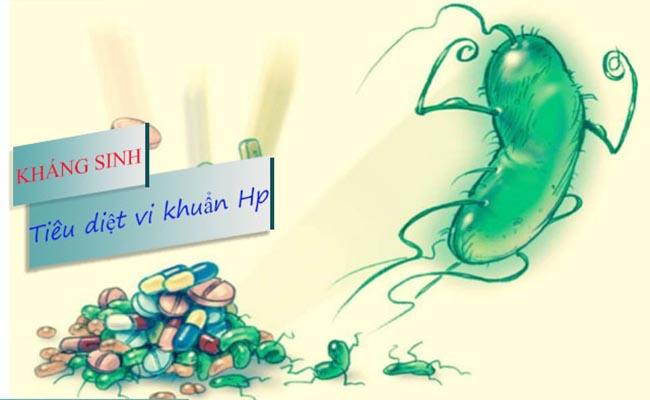 Thuốc kháng sinh giúp tiêu diệt vi khuẩn HP, chữa bệnh dạ dày
