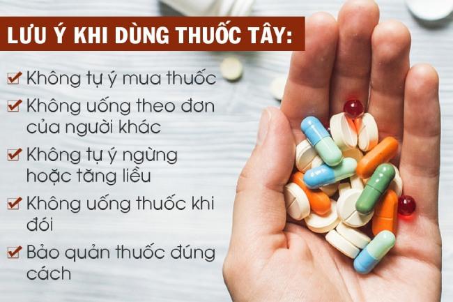 Người bệnh cần lưu ý khi sử dụng thuốc tây trị bệnh gout
