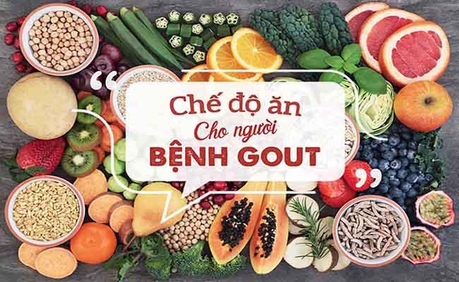 Người bệnh gout nên lưu ý chế độ ăn uống khoa học