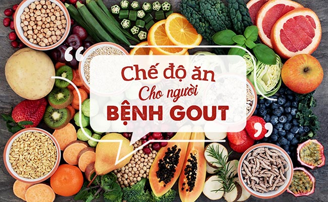 Chế độ dinh dưỡng cho người bị bệnh gout
