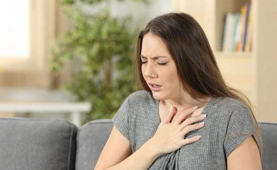 Đau dạ dày khó thở