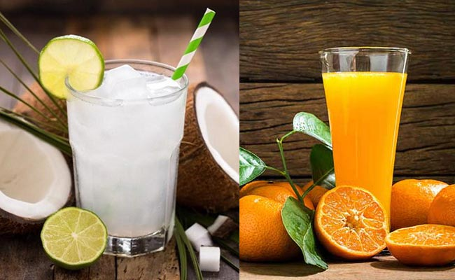 Giá trị dinh dưỡng từ nước dừa và nước cam