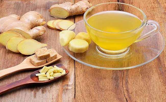 Uống trà gừng giảm đau dạ dày