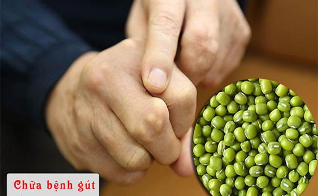 Sử dụng vỏ đậu xanh chữa bệnh gout khá đơn giản