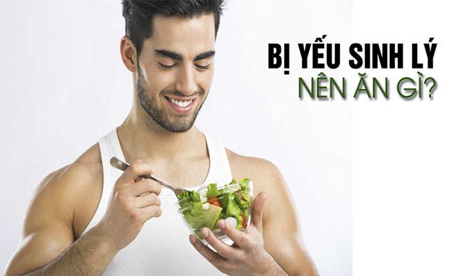 Quý ông nên chú ý kết hợp chế độ ăn uống và tập luyện để cải thiện chức năng sinh lý