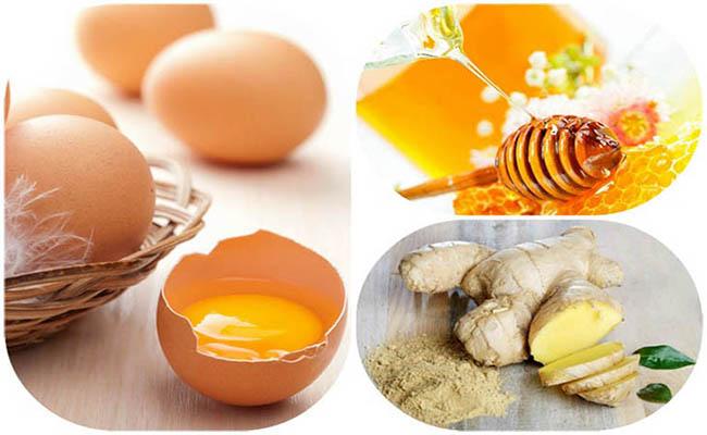 Chữa yếu sinh lý bằng trứng gà, gừng, mật ong