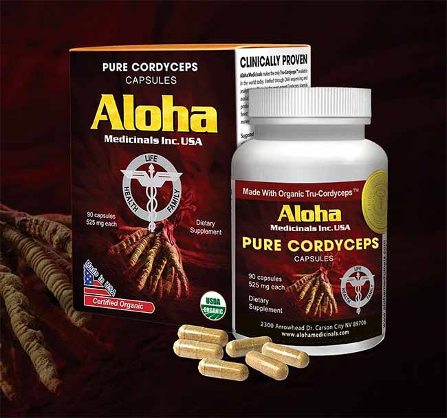 Đông trùng hạ thảo Aloha của Mỹ được ưa chuộng