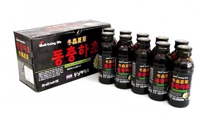 Nước Đông trùng hạ thảo Hàn Quốc khá được yêu thích