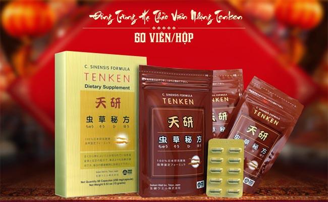 Đông trùng hạ thảo Nhật Bản Tenken có nhiều lợi ích cho sức khỏe