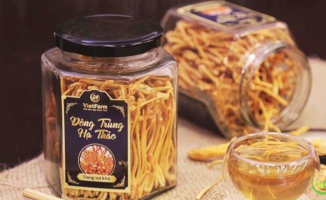 Đông trùng hạ thảo Vietfarm cũng khá nổi tiếng trên thị trường