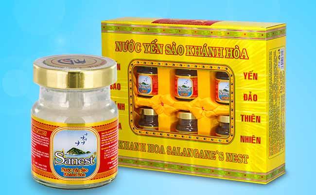 Sản phẩm nước yến sào Sanest Đông trùng hạ thảo được bán nhiều trên thị trường