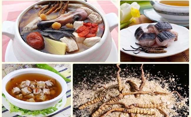 Đông trùng hạ thảo có thể được chế biến thành nhiều món ăn hấp dẫn, bổ dưỡng