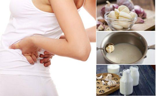 Đun nóng sữa tỏi và uống thường xuyên giúp giảm đau dây thần kinh tọa